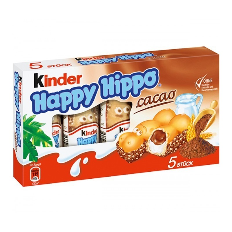 ferrero kinder happy hippo cacao. Black Bedroom Furniture Sets. Home Design Ideas