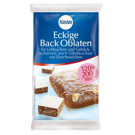 Kuechle®  Eckige Back Oblaten 120 x 200 mm